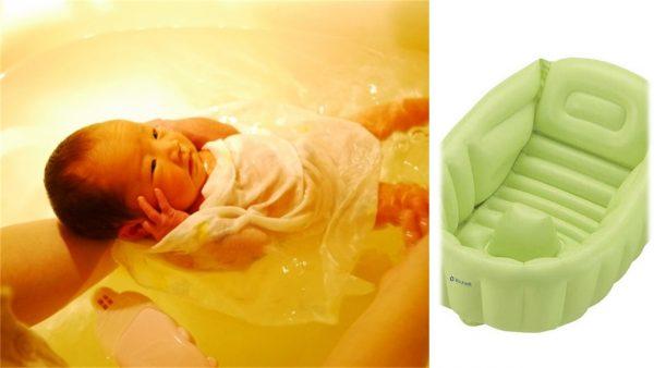 【おすすめベビーバス】リッチェルの空気タイプはママも赤ちゃんにも優しい!実際使った感想